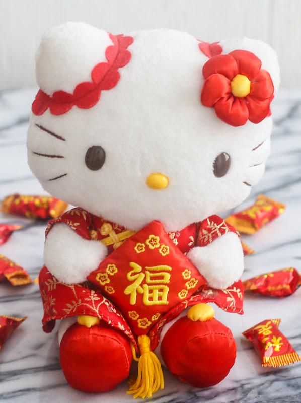 a stuffed Hello Kitty doll