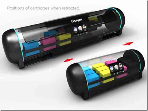 Future technology Concept widescreen printer