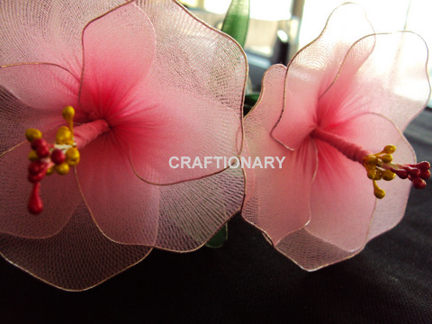 nylon-stocking-net-flowers-hibiscus-craft-idea