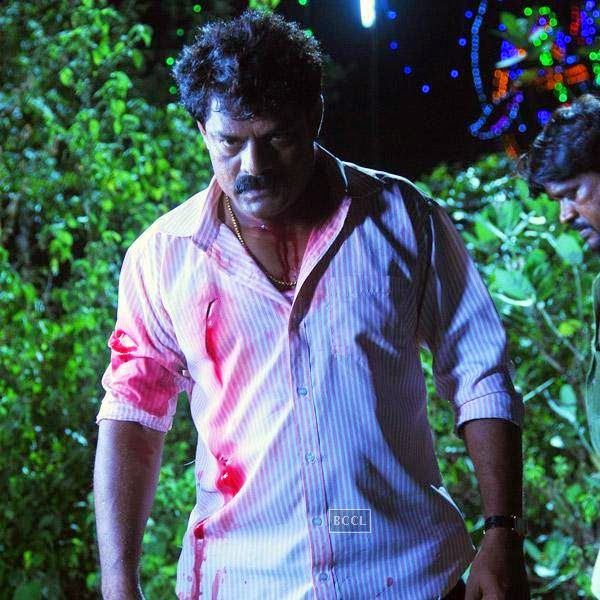 Bose Venkat in a still from the Tamil movie Vanmham.