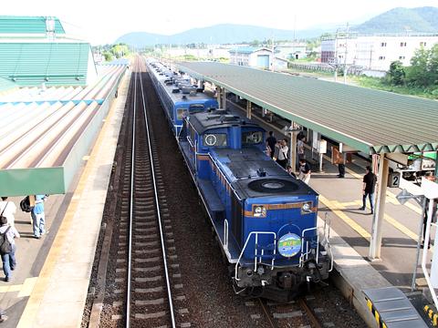 JR北海道 「リバイバルまりも」 DD51&14系座席車&24系寝台車 新得駅にて その2