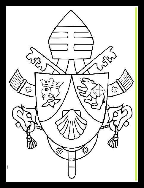 Escudo de armas del Vaticano para colorear
