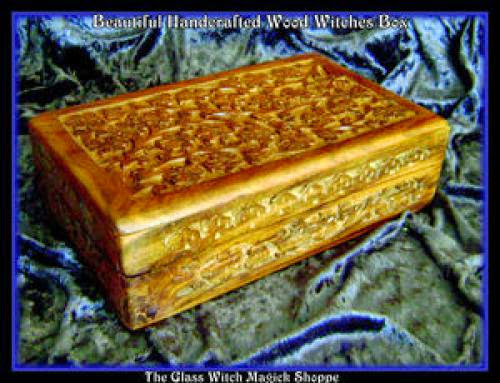 Beautiful Handcrafted Wood Witches Box Et 17 00