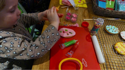Maegan Clement making Easter Cookies with Hobbycraft
