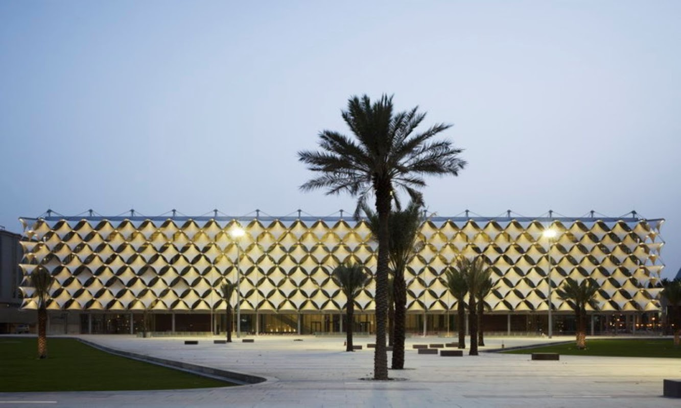 Riyad Arabia Saudita: Completed the King Fahad National Library by Gerber Architekten
