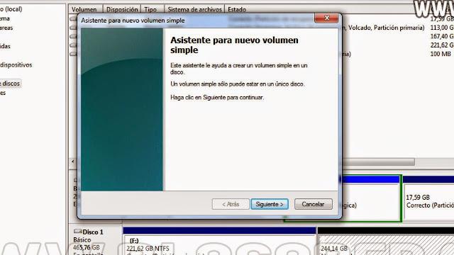 particionar un disco externo en windows 7