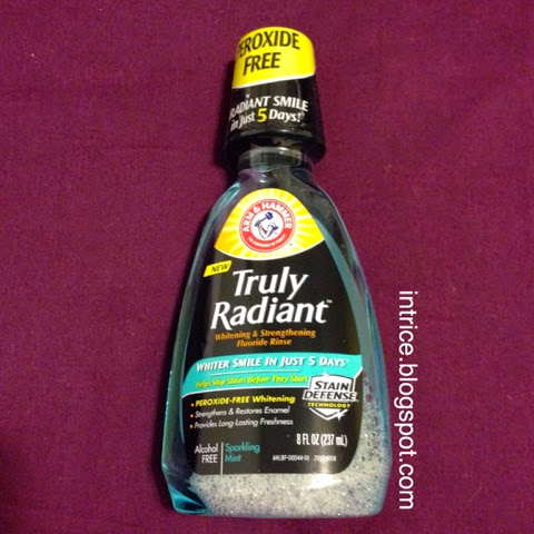 Arm and Hammer Truly Radiant Whitening Strengthening Mouth Wash Rinse -- photo credit: intrice.blogspot.com