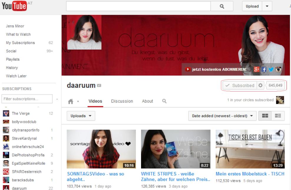 YouTube daaruum