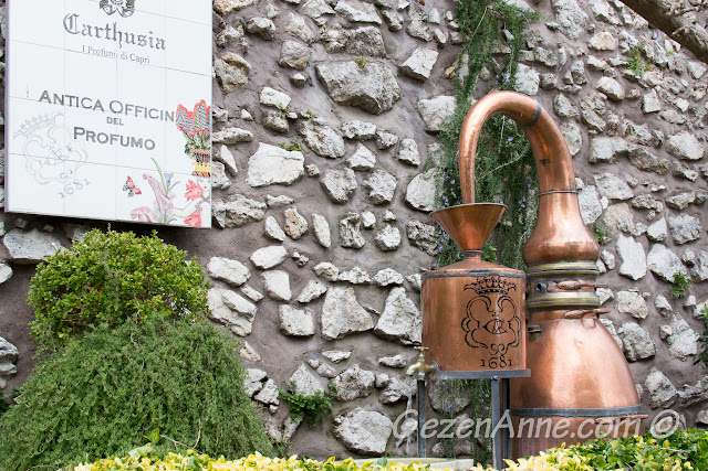 parfüm atölyesi önü, Capri