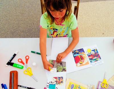 taller de còmics reciclats - Llibres Artesans