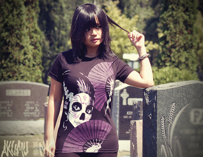akumu ink, cemetery, horror fashion, japanese fashion, goth shirts, goth fashion, emo tshirts, vampire freaks tshirt, suicide girls tshirt