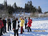 Фоторепортаж с тренинга по ньяса-йоге 12-18 февраля 2012г в Карпатах.