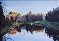 Jeli tó ősszel  1995  -  olaj-vászon  50x70cm