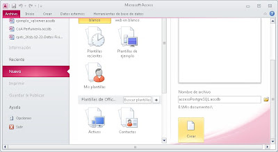 Crear origen de datos PostgreSQL en Windows 7, acceso a PostgreSQL desde Access mediante ODBC