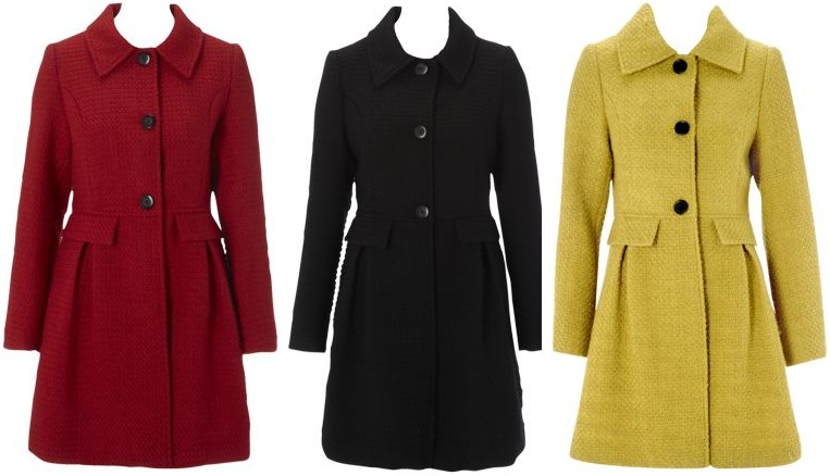 Matalan Textured Single Breasted Coat