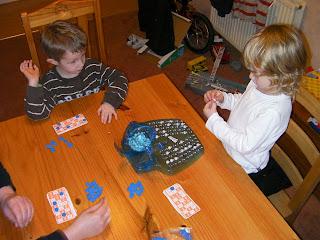 game of bingo with schoolboys