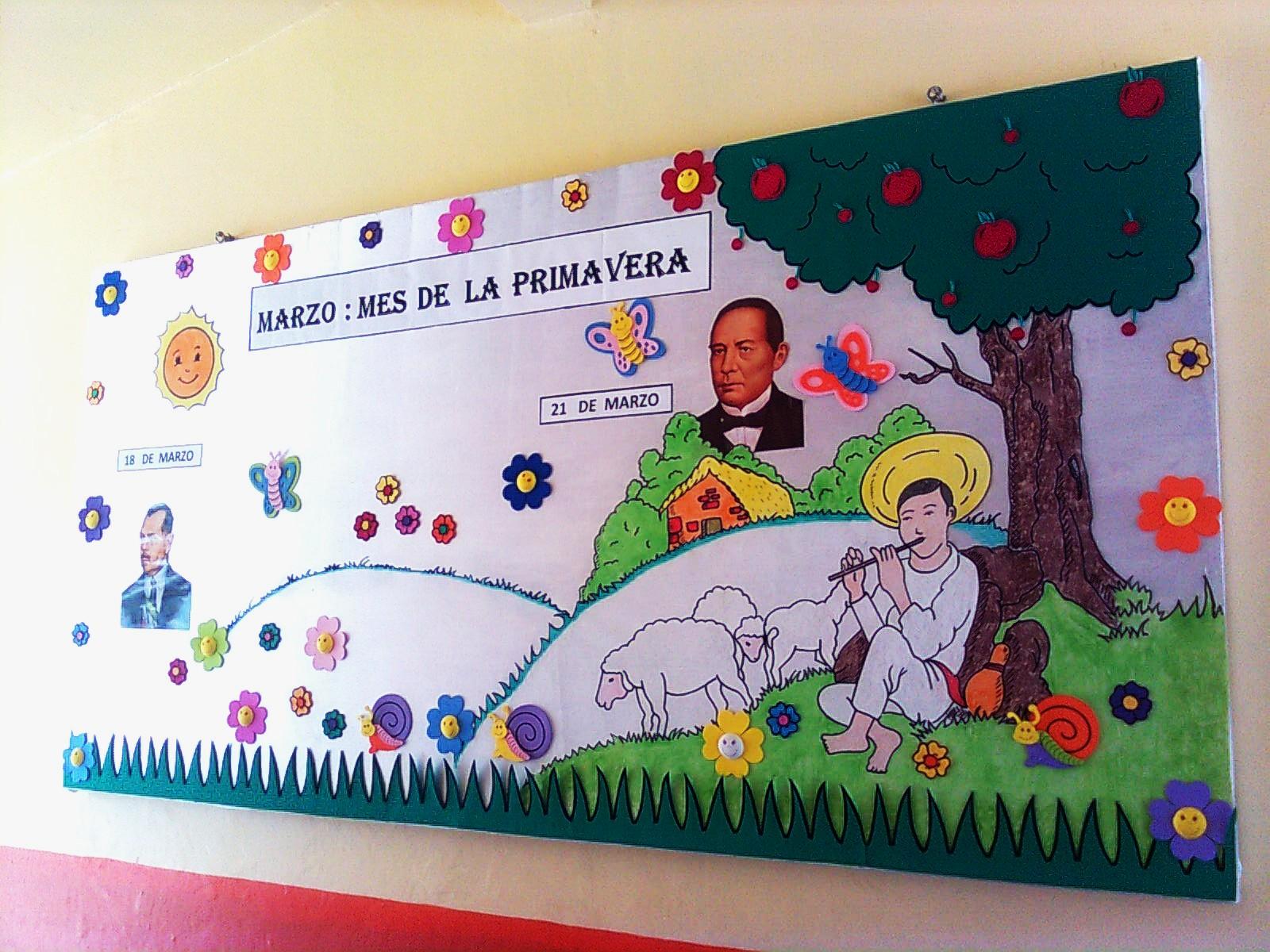 Lalicenciadoadolfo periodico mural del mes de marzo for Como decorar un mural