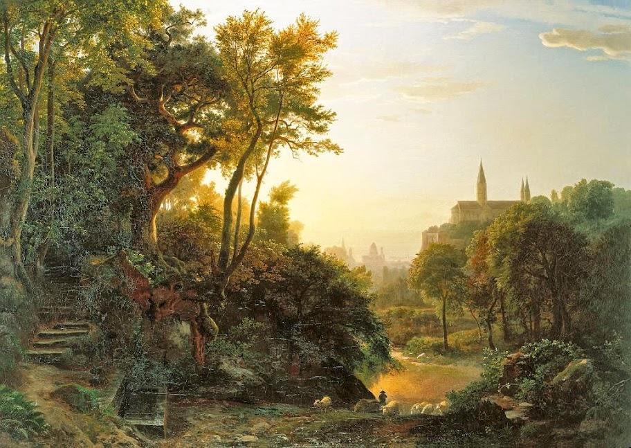 Johann Wilhelm Schirmer - Sonntagmorgen