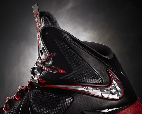 First Look at Nike LeBron X Black  Silver  Red Finally