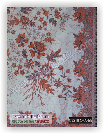 Grosir Batik Murah, Trend Batik 2015, Motif Kain Batik, CB218 ORANYE