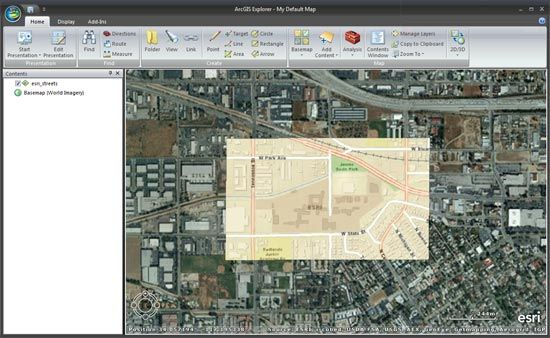 georeference arcgis explorer