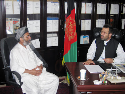 Meeting with Mohammad Gulab Mangul, Governor of Helmand Province, in 2008