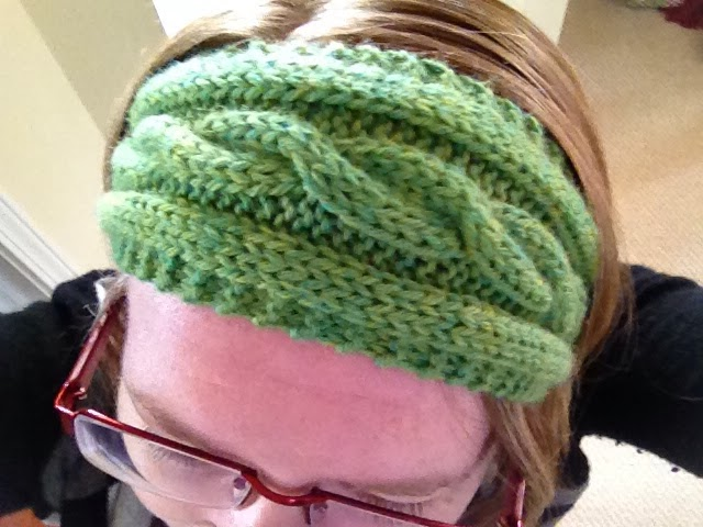 Charlottes Empire Cable Pattern Ear Warmer Pattern And Picture