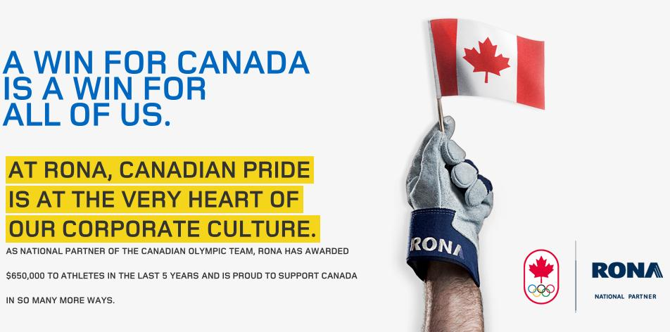 "New RONA TV Ad ""Olympic Relay"""