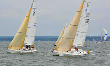 J/105 one-design sailboat- sailing college big boats