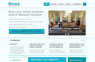 Blue Business Magazine Joomla Theme Template