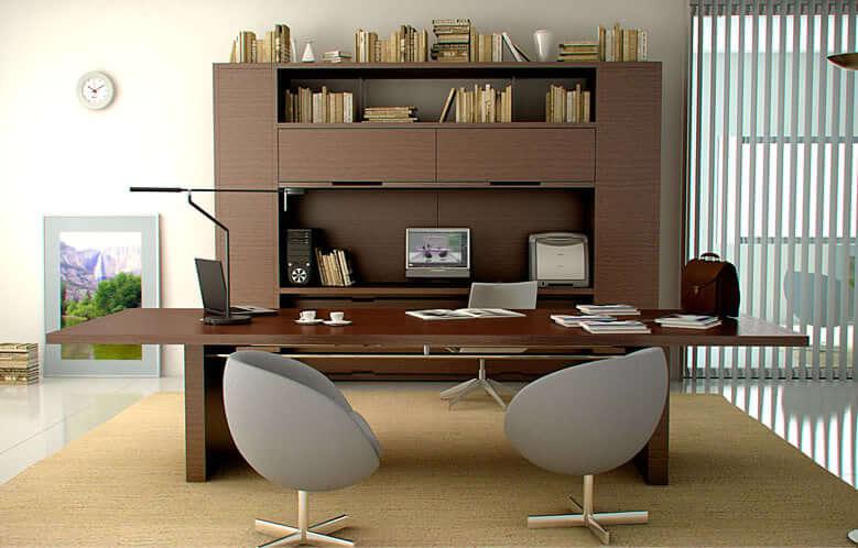 Thiết kế không gian văn phòng theo chất liệu gỗ tự nhiên