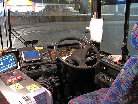 十勝バス「ふるさと銀河線代替バス」2036 コックピット