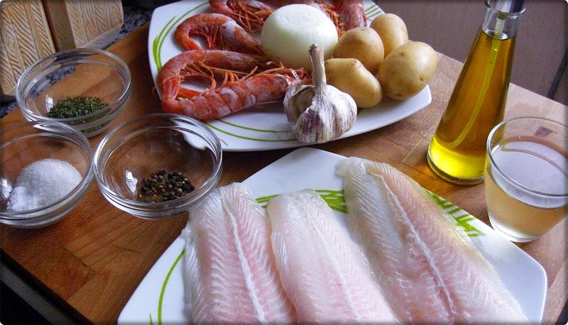 Ingredientes para el pescado al horno