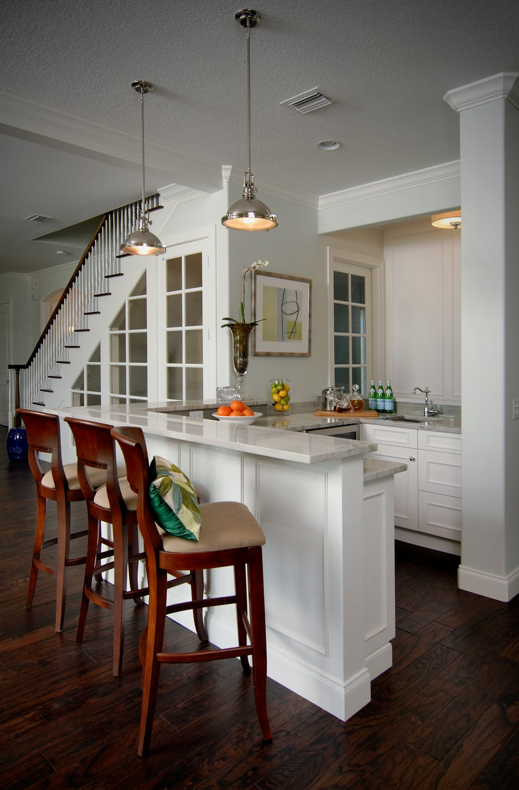 Kitchen Island with Seating and Beverage Cooler