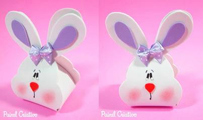 lembrancinha rostinho de coelho EVA