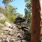Steep rock track beside Woy WOy Landfill (379502)