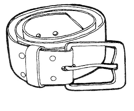 Belt, free coloring pages