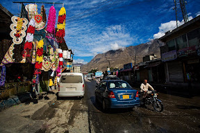 Famous NLI bazaar of Gilgit City.