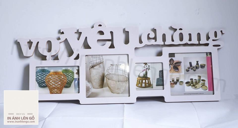 KHung ảnh decor vợ yêu chồng - chất liệu gỗ