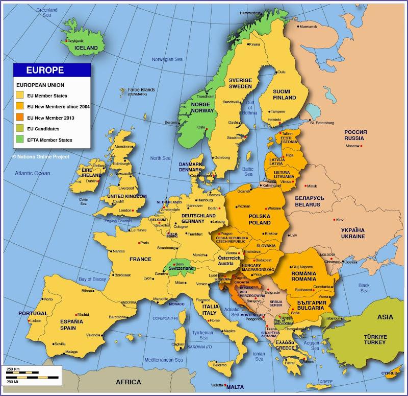 Mainland Europe Map Thefreebiedepot: Mainland Europe Map At Slyspyder.com