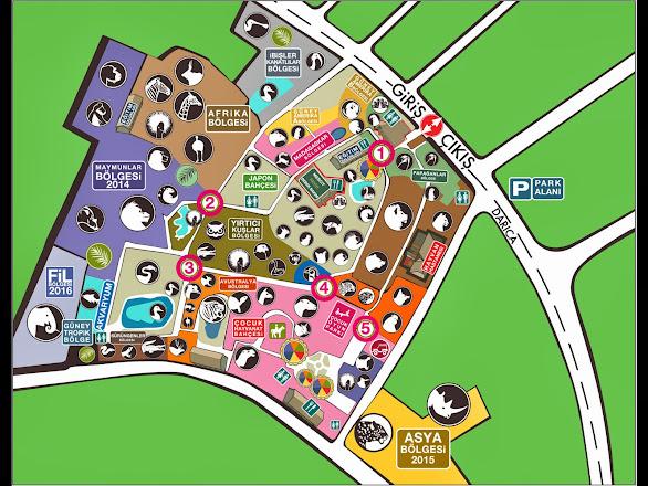 Darıca Hayvanat Bahçesi haritası