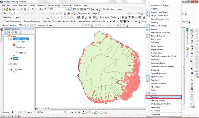 Editing Polyline dengan Aturan Topology di ArcGIS 10 |