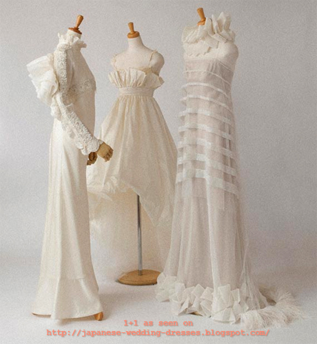 Japanese Wedding Dresses Beyond the Kimono: Chic silk and lace ...