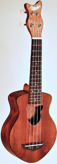 Goldfish Guitars Mahogany Fishuku Soprano at Lardy's Ukulele Database