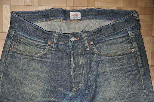 worn edwin denim jeans