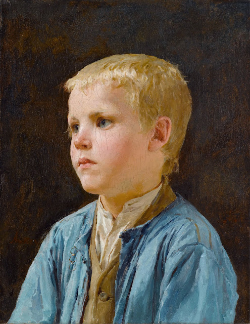Albert Anker - Portrait of boy