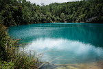 The bluest of the blue, a tiny lake known as Agua Tinta