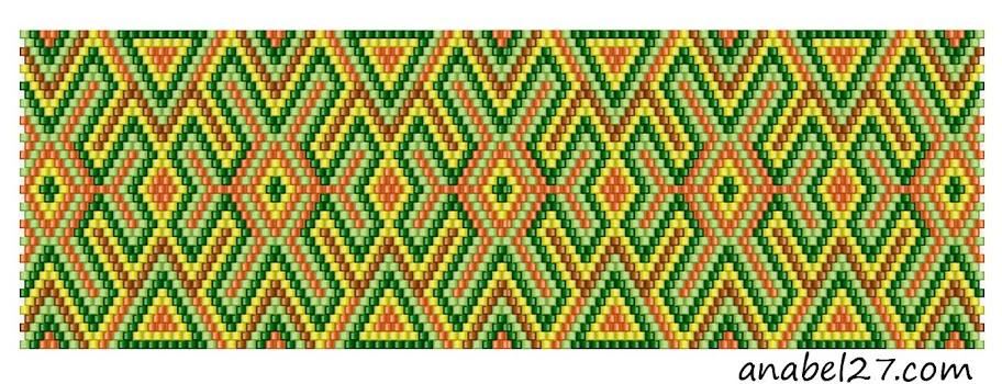 мозаичное плетение схема peyote bead pattern