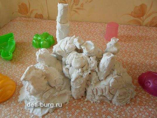 замок из живого песка