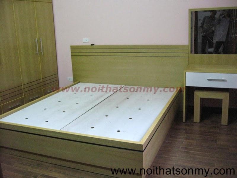 Giường ngủ gỗ ash